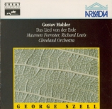 MAHLER - Szell - Das Lied von der Erde (Le chant de la terre), pour téno