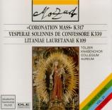 MOZART - Reinhardt - Messe en do majeur, pour solistes, chœur, orgue et