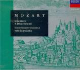MOZART - Wiener Mozart E - Cassation pour orchestre n°2 en si bémol maje