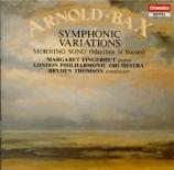 BAX - Thomson - Variations symphoniques pour piano et orchestre GP.210