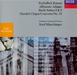 Canon - Adagio - Cto pour orgue n°13 - Suites n°2 et 3