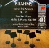 BRAHMS - Serkin - Sextuor à cordes n°2 en sol majeur op.36
