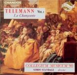TELEMANN - Standage - Concerto pour violon, cordes et basse continue, en Vol.1  -  La Changeante