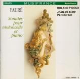 Sonates pour violoncelle et piano