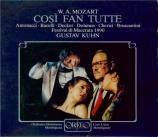 MOZART - Kuhn - Cosi fan tutte (Ainsi font-elles toutes), opéra bouffe e live Macerata 1990