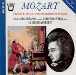 Lieder, duos, trios et quatuors vocaux