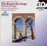 BACH - Goebel - L'art de la fugue(Die Kunst der Fuge) BWV.1080 : transc