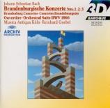 BACH - Goebel - Concerto brandebourgeois n°3 pour orchestre en sol majeu