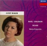 Ravel, Chausson, Delage
