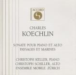 KOECHLIN - Keller - Sonate pour alto et piano op.53