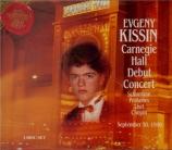 Carnegie Hall Debut Concert : September 30, 1990