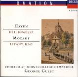 HAYDN - Guest - Missa Sti Bernardi von Offida, pour solistes, chœur mixt