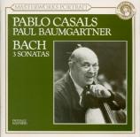 BACH - Casals - Sonate pour viole de gambe et clavier n°1 en sol majeur