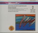 MENDELSSOHN-BARTHOLDY - Rilling - Elias, oratorio pour solistes et choeur