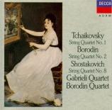 TCHAIKOVSKY - Gabrieli String - Quatuor à cordes n°1 en ré majeur op.11