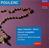 POULENC - Malcolm - Concerto pour orgue, timbales et cordes en sol mineu