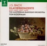 BACH - Koopman - Concerto pour clavecin et cordes n°1 en ré mineur BWV.1