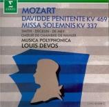 MOZART - Devos - Davide penitente, oratorio pour solistes, chœur et orch