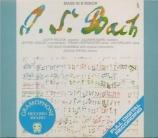 BACH - Rifkin - Messe en si mineur, pour solistes, choeur et orchestre BW First Recording of the Original Version