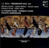 BACH - Herreweghe - Magnificat en ré majeur, pour solistes, choeur et orc