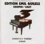 CHOPIN - Gilels - Sonate pour piano n°2 en si bémol mineur op.35
