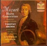 MOZART - Brown - Concerto pour cor et orchestre n°2 en mi bémol majeur K