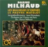 MILHAUD - Milhaud - Les malheurs d'Orphée op.85