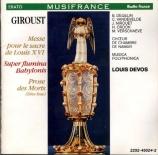 GIROUST - Devos - Messe de sacre de Louis XVI