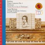 BRAHMS - Berman - Concerto pour piano et orchestre n°1 en ré mineur op.1