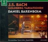 BACH - Barenboim - Variations Goldberg, pour clavier BWV.988