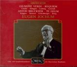 VERDI - Jochum - Messa da requiem, pour quatre voix solo, chœur, et orch