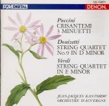 DONIZETTI - Kantorow - Quatuor à cordes n°9 en ré mineur