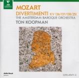 MOZART - Koopman - Divertimento pour cordes n°1 en ré majeur K.136 (K6.1