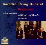 BEETHOVEN - Borodin Quartet - Quatuor à cordes n°5 op.18-5