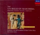 VERDI - Solti - Un ballo in maschera (Un bal masqué), opéra en trois act