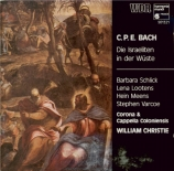 BACH - Christie - Die Israeliten in der Wüste, oratorio Wq.238 (H.775)