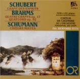 BRAHMS - Choeur de Chamb - Vier Gesänge, quatre mélodies pour chœur de f