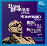 STRAVINSKY - Rosbaud - Agon, ballet pour orchestre