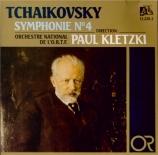 TCHAIKOVSKY - Kletzki - Symphonie n°4 en fa mineur op.36
