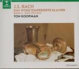 BACH - Koopman - Le clavier bien tempéré, Livre 2 BWV 870-893
