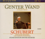 SCHUBERT - Wand - Symphonies : intégrale