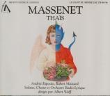 MASSENET - Wolff - Thaïs Paris 27 - 8 - 1959 + récital Andrée Esposito 1958-72