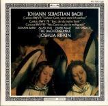 BACH - Rifkin - Jesu, der du meine Seele, cantate pour solistes, choeur e