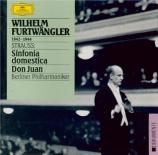 STRAUSS - Furtwängler - Symphonia domestica, pour grand orchestre op.53
