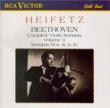 BEETHOVEN - Heifetz - Sonate pour violon et piano n°8 op.30 n°3