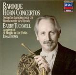 Baroque Horn Concertos