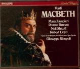 VERDI - Sinopoli - Macbeth, opéra en quatre actes (version italienne)