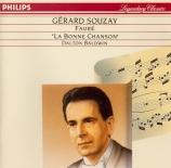 FAURE - Souzay - La bonne chanson (Verlaine), cycle de mélodies pour voi