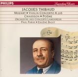 MOZART - Thibaud - Concerto pour violon et orchestre n°3 en sol majeur K