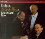 BRAHMS - Beaux Arts Trio - Trio avec piano n°1 en si majeur op.8